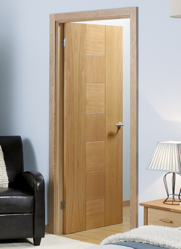 Catalonia Oak Pre-Finished Fire Door